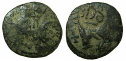 Ancient Coins - BYZANTINE EMPIRE.SICILY.Heraclius AD 610-641.AE.Countermarked follis