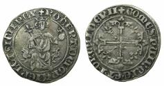 World Coins - FRANCE.PROVENCE.Robert The Wise AD 1309-1343.AR.Gigliato.