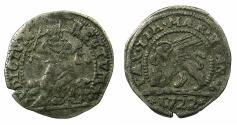 World Coins - ITALY.VENICE.Giovanni Corner II AD 1709-1722.Anonymous issue.AR.Trairo da cinque soldi. 1722