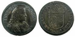 World Coins - ITALY.SAVOY.Victtorio Amadeo II 1675-1730.AR.Mezza Lira.1681.Mint of TURIN.  Pedigreed to Archbishop Sharp coll. ( 1644-1714 ), Ex. Owen Parsons coll.