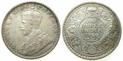 World Coins -  INDIA.British Rule.George V 1910-1936.AR.One Rupee 1920 Bombay mint.