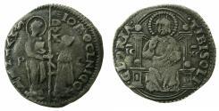 World Coins - ITALY.VENICE. Giovanni Mocenigo AD 1478-1485.AR.Marcello ( 1/2 lire ). Sigla. P C.