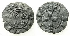 "World Coins - CRUSADER STATES.Principality of ANTIOCH.Bohemond III AD 1149-1163.Billon denier.""Bare head"" Class E."
