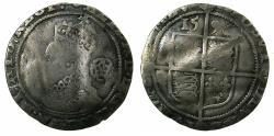 World Coins - ENGLAND.TUDOR.Elizabeth I AD 1558-1603.AR.Sixpense.1596.5th issue.1582-1600.mm.Woodpack