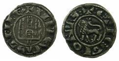 World Coins - SPAIN.Alfonso X El Sabio AD 1252-1284.Billon Pepion.Mint of MURCIA.