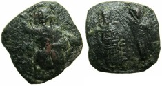 Ancient Coins - BYZANTINE EMPIRE.CYPRUS.Issac Comnenus , Usurper in Cyprus AD 1185-1191.AE.Tetateron.Secondary Mint.