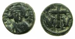 Ancient Coins - BYZANTINE EMPIRE.Constans II AD 641-668.AE.Decanummium. Mint of CARTHAGE.