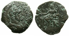 Ancient Coins - EGYPT.ALEXANDRIA.Antoninus Pius AD 138-161.AE.Drachma, struck AD 156/57.~#~.Kybele enthroned.