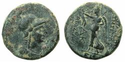 Ancient Coins - APAMEA.Pseudo-Autonomous issue.AE.22mm. struck Pompeian era year 24=43/42 BC.~~~Athena.~#~.Nike.