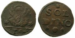 World Coins - CRETE ( Regno di Candia ) under VENICE.Anonymous issue.AE.4 Tornesi( soldino ).Struck circa 1611-1619.