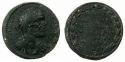 Ancient Coins - CILICIA.AEGEAE.Macrinus AD 217-218.AE.32.2mm.~#~.local era date 264 = AD 217/218