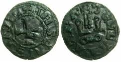 World Coins - CRUSADER STATES.GREECE.Duchy of NEOPATRAS.John II Angelus-Comnenus AD 1303-1318.Bi.Denier