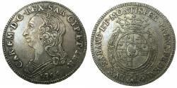 World Coins - ITALY.SARDINIA.Carlo Emanuele III 1730-1773.AR.Quarto de Scudo.1764.Mint of TURIN.