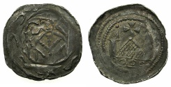 World Coins - ITALY.Patriachy of AQUILEIA. Anonymous 12th cent AD.Denaro FRIESACH