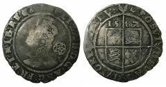 World Coins - ENGLAND.TUDOR.Elizabeth I AD 1558-1603.AR.Sixpense.1587.5th issue.1582-1600.mm.Crescent.