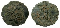 Ancient Coins - SYRIA.Chalcis ad Belum.Augustus 27BC-AD14.AE.20mm. struck BC 32/31.Zeus.Reverse.Nike. ***Stuck in the year of the battle of Actium ***