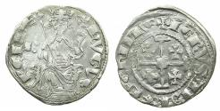 World Coins - CRUSADER STATES.CYPRUS.Hugh IV AD1324-1359.AR.Gros Petit. Obverse letter B. Reverse. leg.ends ChIPRE Ex.Lambros coll.