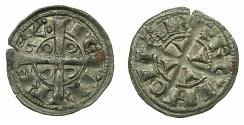 World Coins - SPAIN.BARCELONA.Peter I ( II of Aragon ) AD 1196-1213.Billon Denaro.