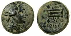 Ancient Coins - PHRYGIA.EUMENEA.2nd cent BC.AE.21mm. Dionysios. Tripod. Magistrate Dioysirodo