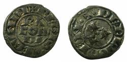 World Coins - ITALY.PIACENZA.Republic AD 1140-1313.Billon Denier. struck in the name of Conrad II.