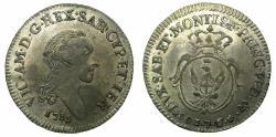 World Coins - ITALY.SAVOY.Vittorio Amadeo III AD 1773-1796.Billon 7.6 Soldi.1785.Mint of TURIN.