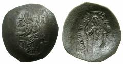 Ancient Coins - BYZANTINE EMPIRE.Manuel I Comnenus AD 1143-1180.Billon Aspron Trachy.