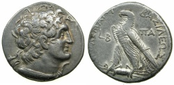 Ancient Coins - PTOLEMAIC EMPIRE.EGYPT.ALEXANDRIA.Cleopatra III and Ptolemy IX Soter II 116-107 BC.AR.Tetradrachm.struck 116/115 BC.