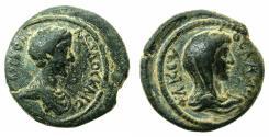 Ancient Coins - JUDAEA.DECAPOLIS.PHILADELPHIA.Commodus AD 166-177.AE.22mm. Reverse.Bust of Asteria.