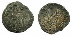 World Coins - VENICE.Andrea Contarini AD 1368-1382.AR.Soldino.2rd Type. Sigla *- F