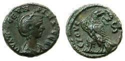 Ancient Coins - EGYPT.ALEXANDRIA.Severina, wife of Aurelian, Augusta AD 27-275.Billon Tetradrachma.AD 274/275. Reverse. Eagle.