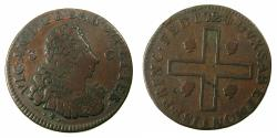 World Coins - ITALY.SARDINIA.Vittorio Amadeo II 1675-1730, king 1720-1730.AE.3 Cagliaresi.1724.Mint of TURIN.