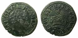 World Coins - ITALY.Kingdom of NAPLES.Charles V Holy Roman Emperor AD 1516-1556.AE.2 Cavalli N.D.