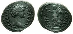 Ancient Coins - BYTHINIA.NIKAEA.Geta Caesar AD 209-211.AE.16.2mm. Reverse.Nike. Unpublished ?