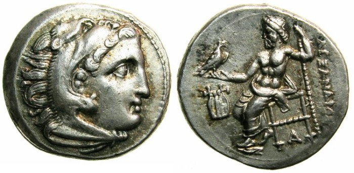 Ancient Coins - MACEDON.Alexander III The Great 336-323 BC.AR.Drachma struck C.323-319 BC.Mint of COLOPHON, posthumus issue struck C.323-319 BC.