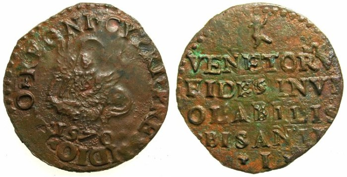 Ancient Coins - CYPRUS under VENICE.AE.Besant 1570.Mint of NICOSIA.