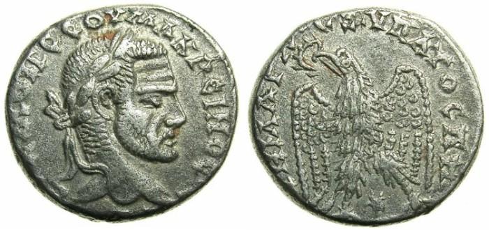 Ancient Coins - SYRIA.SELEUCIS AND PIERIA.Macrinus AD 217-218.AR.Tetradrachm.Mint of LAODICEA AD MARE.