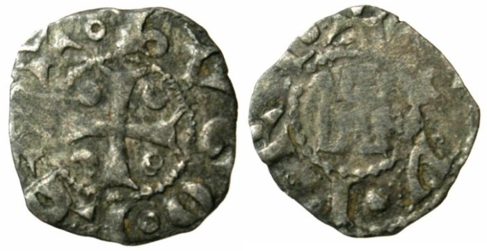 Ancient Coins - CRUSADER.CYPRUS.Hugh I AD 1205-1218.Bi.Denier.Type 5b.
