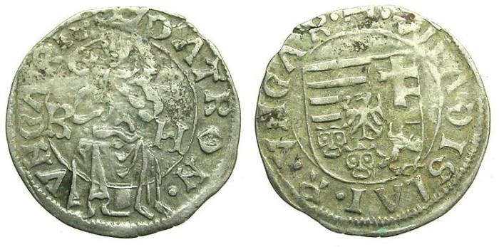 World Coins - HUNGARY.Wladislaw II AD 1490-1516.AR.Denar, undated circa AD 1500-1502.Kremnitz  mint.