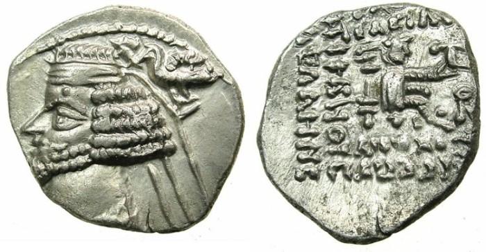 Ancient Coins - PARTHIA.Phraates IV 38-2 BC..AR.Drachma.Mint of LAODICEA. Scarce mint.
