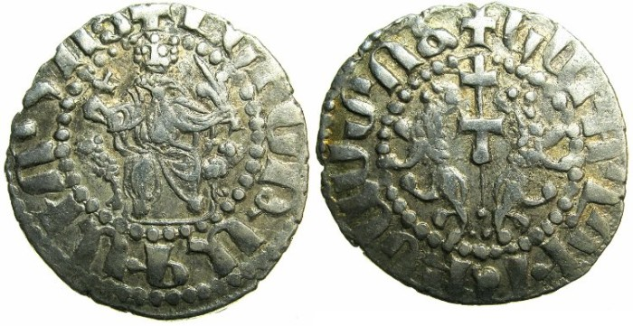 Ancient Coins - CILICIAN ARMENIA.Levon I The Great AD 1199-1219.AR.Tram. LEVN inscription