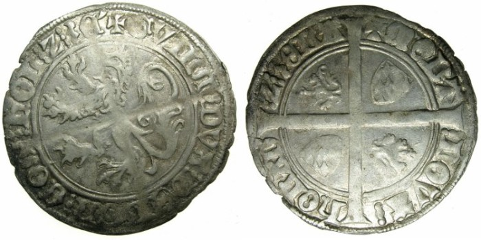 Ancient Coins - NETHERLANDS.County of HOLLAND. William VI of Beieren AD 1404-1417.AR.Groat.Issue of 1411.
