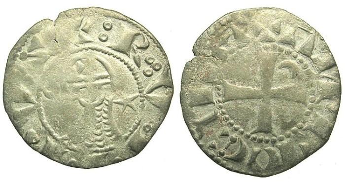 Ancient Coins - CRUSADER.ANTIOCH.Raymond-Roupen AD 1216-1219.Bi.Denier.Type M