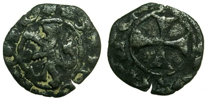Ancient Coins - CRUSADER STATES.CYPRUS.James I AD 1382-1398.Billon Denier