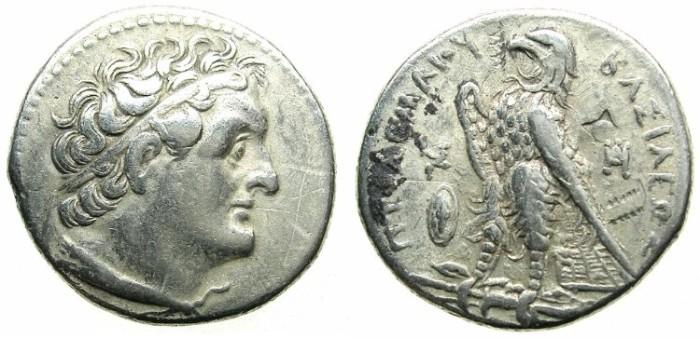 Ancient Coins - EGYPT.Ptolemy II Philadelphus 285-246 BC.AR.Tetradrachm.Struck c.265/4-262/1 BC.Mint of ALEXANDRIA.