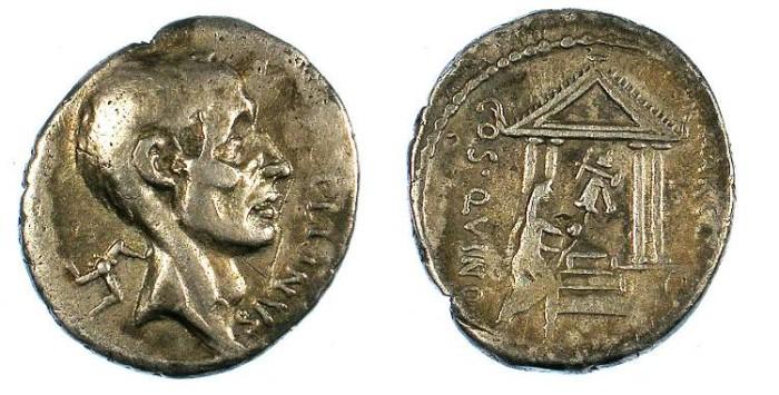 Ancient Coins - ROME.REPUBLIC.P.Cornelius Lentulus Marcellinus 50 BC.AR.Denarius