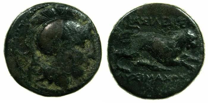 Ancient Coins - THRACE.King Lysimachus circa 305-281 BC.AE.20mm.