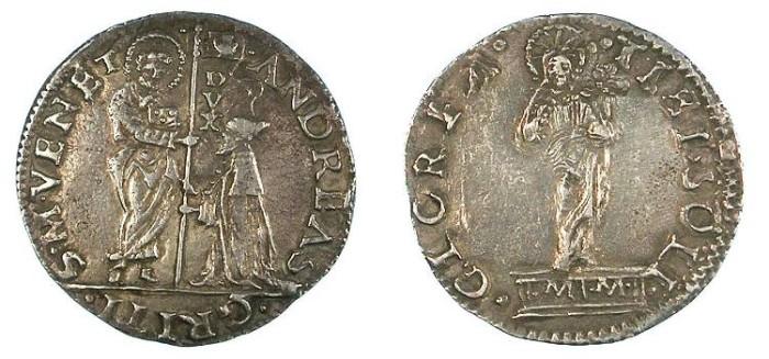Ancient Coins - ITALY.Venice.Andrea Gritti 1523-1538.AR.Mocenigo.