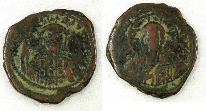 Ancient Coins - Byzantine Empire Constantine X AD 1059-1067 AE.Follis