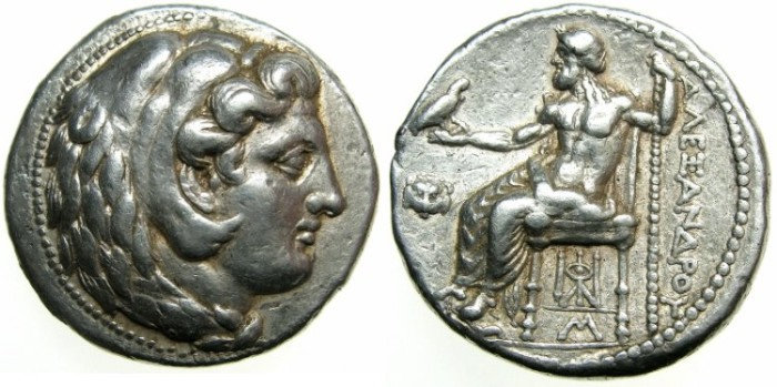 Ancient Coins - MACEDONIAN EMPIRE.Alexander III The Great 336-323 BC. AR.Tetradrachm.Posthumus issue struck c.325-323 BC.Mint of BABYLON.