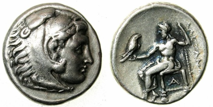 Ancient Coins - MACEDON.Alexander III The Great 336-323 BC.AR.Drachma.Mint of Side. Struck c.323-c.317 BC.